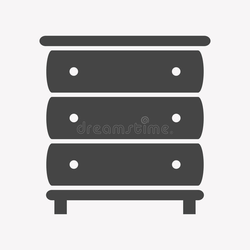 Moderiktigt enkelt för skåpsymbol royaltyfri illustrationer