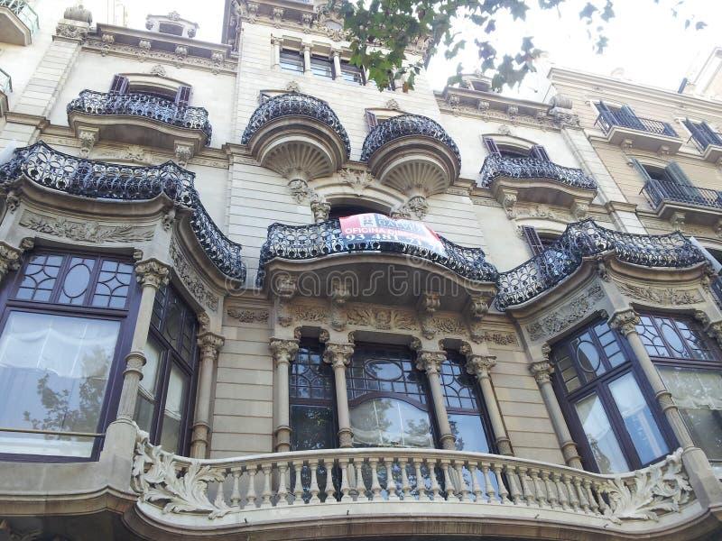 Moderist Βαρκελώνη αρχιτεκτονικής στοκ εικόνα