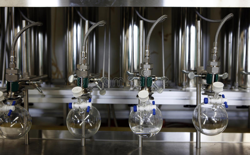 Download Moderm chemistry lab stock photo. Image of glassware - 30855364