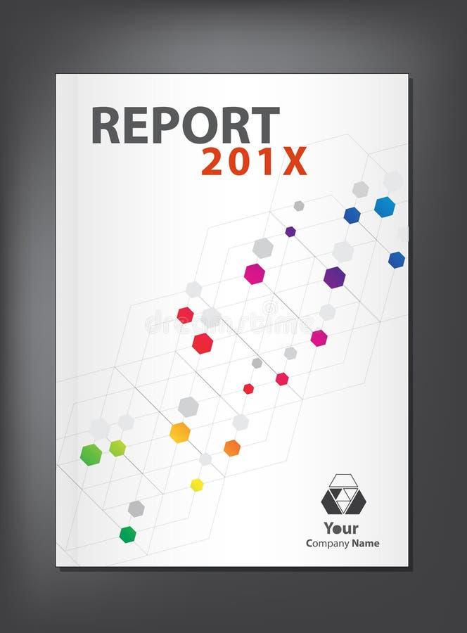 Modern årsrapporträkningsdesign stock illustrationer