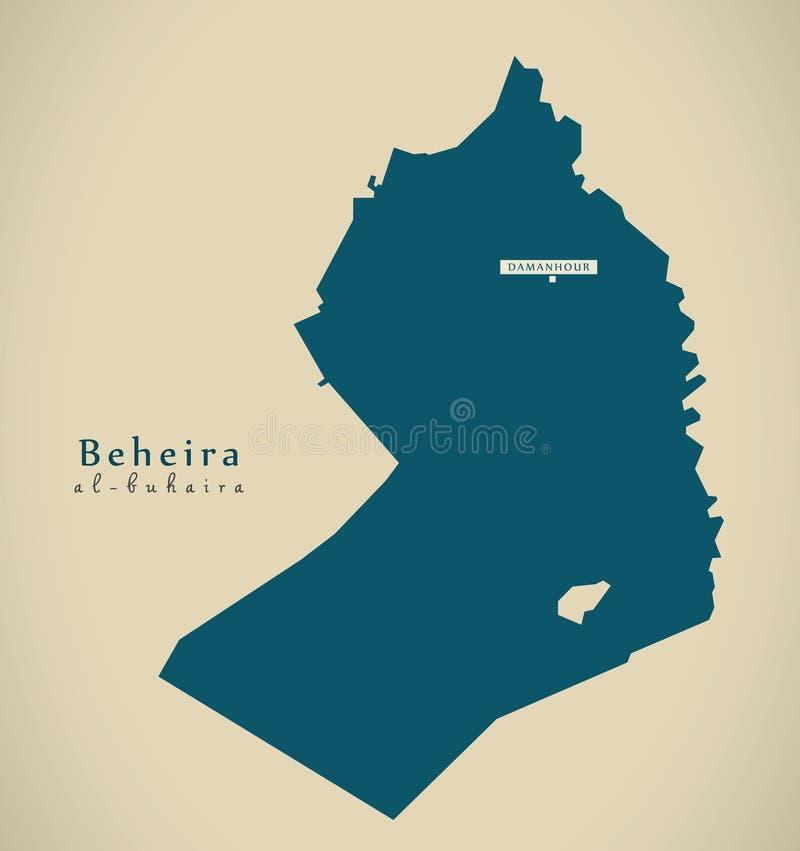 Modern översikt - Beheira EG. stock illustrationer