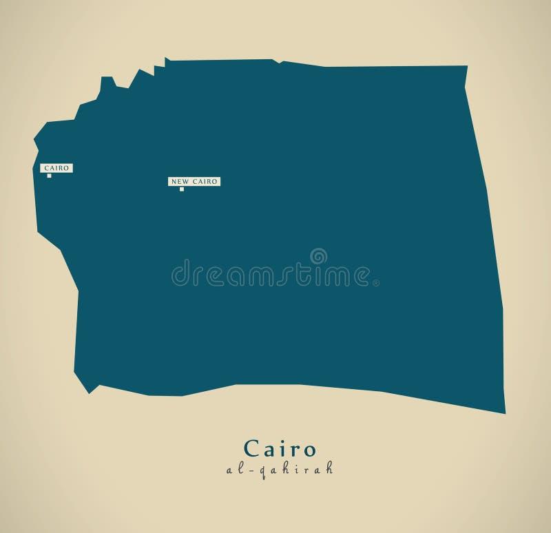 Modern översikt - Kairo EG. royaltyfri illustrationer