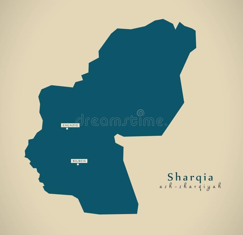 Modern översikt - Sharqia EG. royaltyfri illustrationer