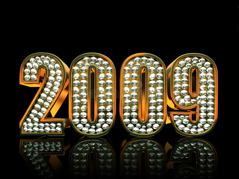 Modern 2009 year vector illustration