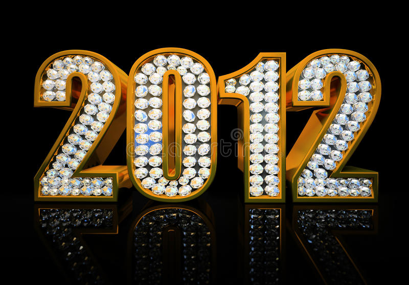 Download Modern 2012 year stock illustration. Image of isolated - 21887341