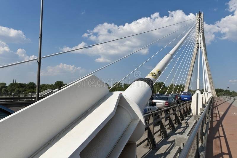 Modern abstract architecture of the bridge. stock image