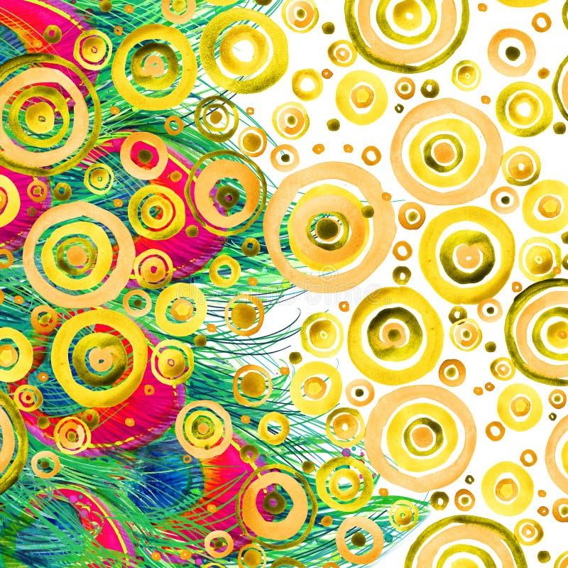 Modern abstract art. Moderne waterverfachtergrond vector illustratie