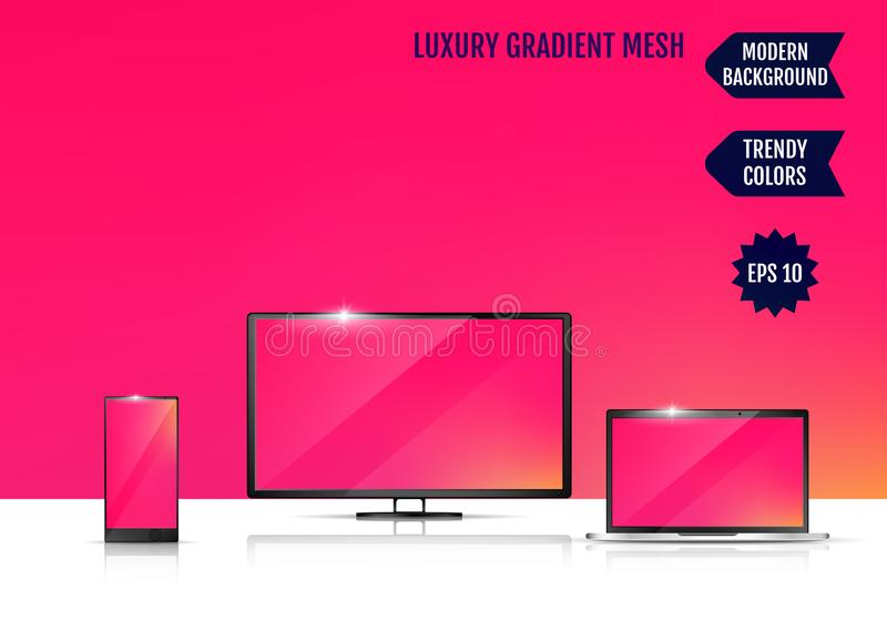 Modern abstract background. Colors transition concept. Gradient mesh. Trendy colored Surface. An example of the use of the. Proposed background on the screen of vector illustration