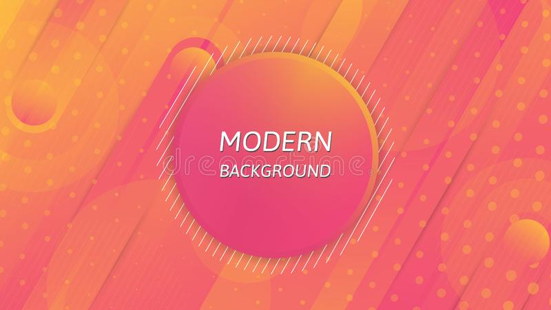 Modern abstract background, Colourful wallpaper design. stock illustration
