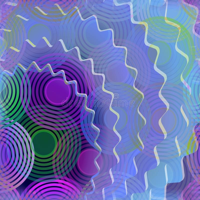 Modern abstract background with gear and concentric circle patterns royalty free illustration