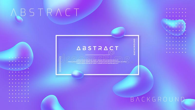 Modern abstract background with mixing purple, blue color can use for posters, template, website header background, mobile screen royalty free illustration