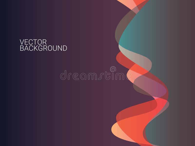 Modern abstract background, overlay waves pattern. Modern abstract background with overlay waves pattern. Vintage colorful wallpaper with space for text. Eps10 stock illustration