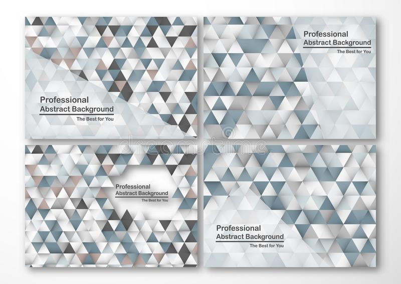 Modern abstract background in polygon shape. Set of template design in blue and white tone for business royalty free illustration