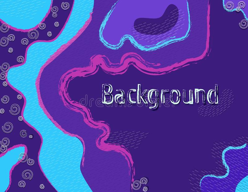 Modern, abstract background with text of lines and shapes for advertising, business, sales stock illustration