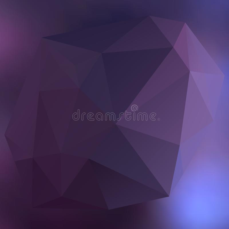 Modern abstract background triangles 3d effect glowing light07 stock illustration