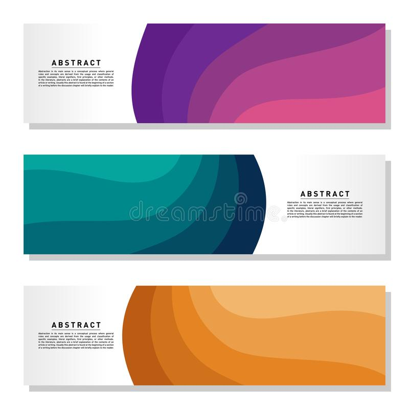 Modern abstract Banner set. Cool gradient shapes composition. Eps10 vector. Abstract Background Template Vector stock illustration