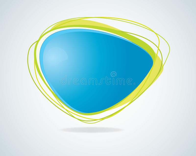 Modern Abstract Blue Speech Bubble Stock Photo