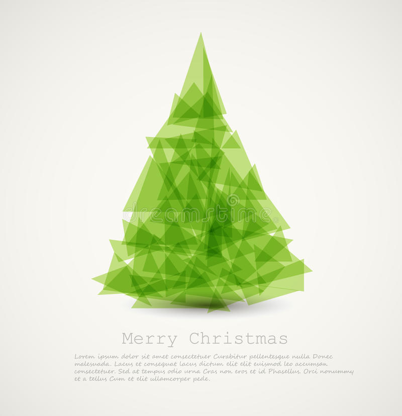 modern abstract christmas tree vector illustration