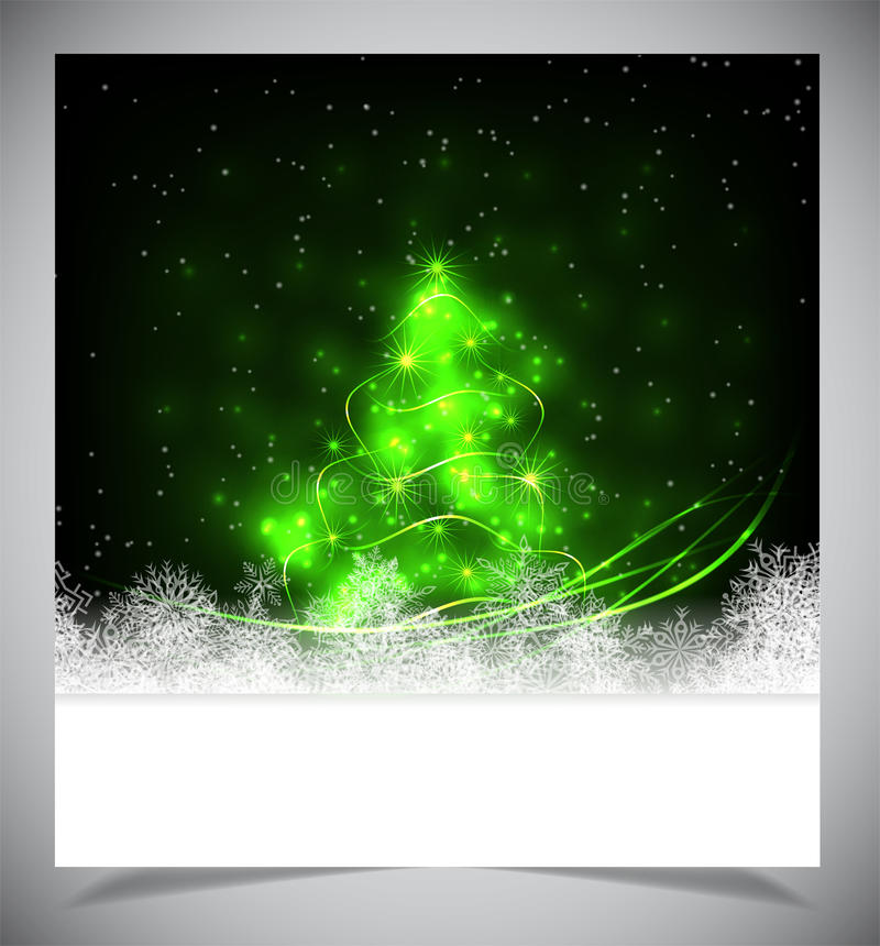 Modern abstract christmas tree, eps 10 royalty free stock image