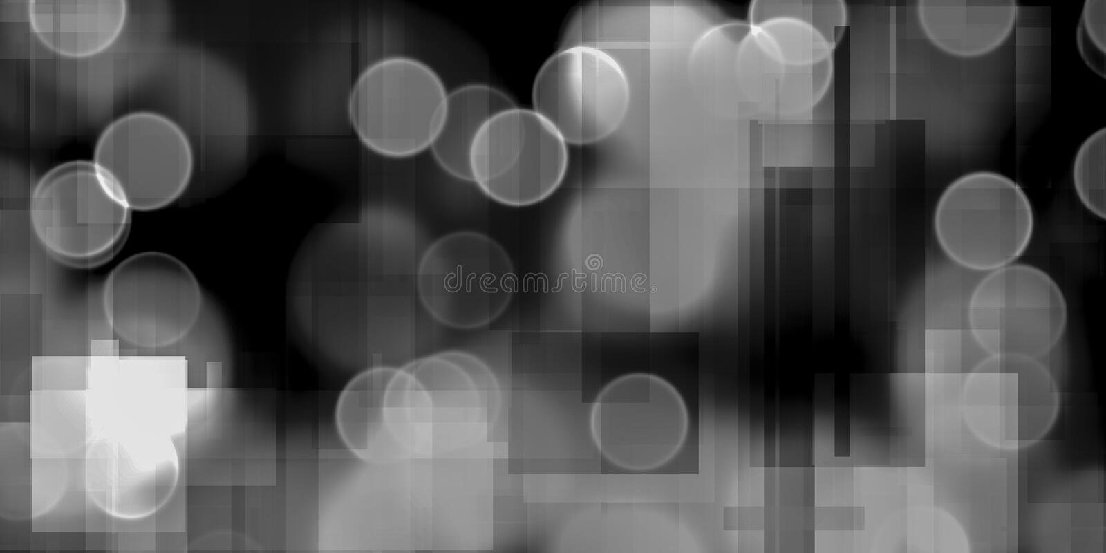 Modern Abstract. Of circles and squares vector illustration