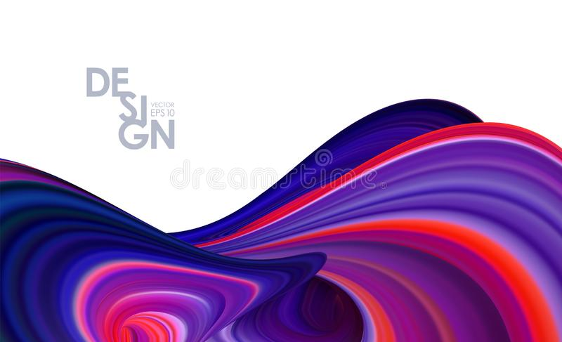Modern Abstract 3d background with colorful flow liquid shape. Trendy design. Vector illustration: Modern Abstract 3d background with colorful flow liquid shape stock illustration