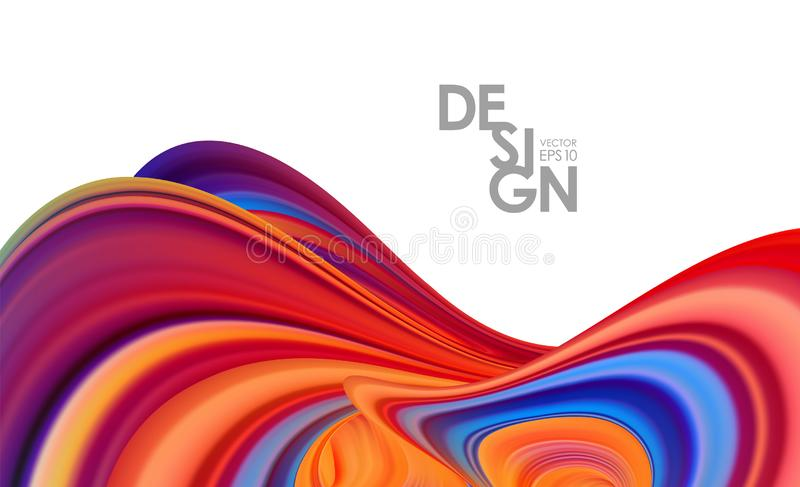 Modern Abstract 3d background with colorful flow liquid. Trendy design. Vector illustration: Modern Abstract 3d background with colorful flow liquid. Trendy stock illustration