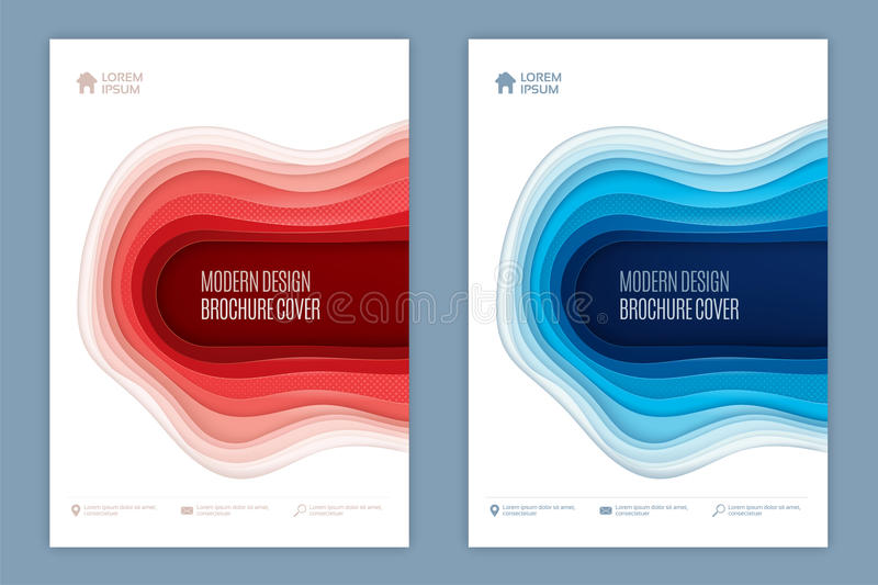 Modern abstract 3d cover design for brochure magazine flyer repo stock illustration