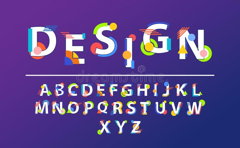 Vector abstract font vector illustration