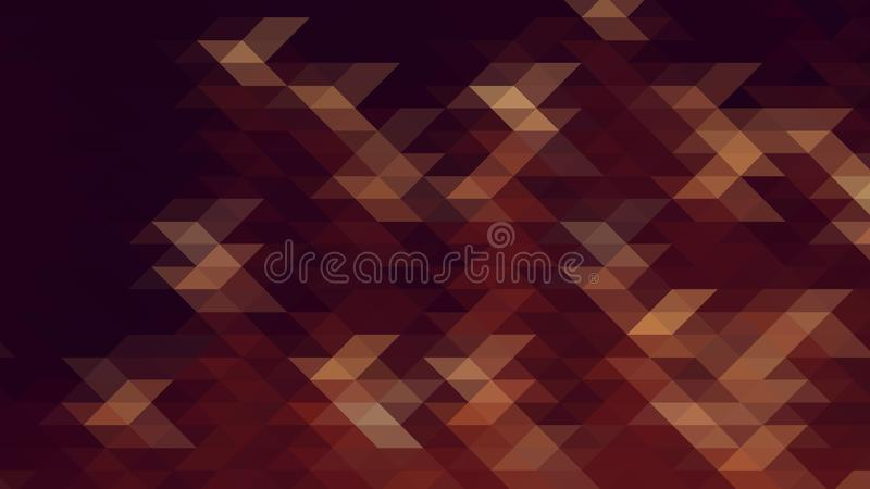 Modern abstract geometric pattern with brown, orange and burgundy triangles vector illustration