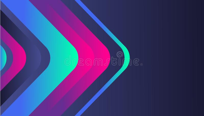 Modern abstract gradient background template, trendy shape shiny composition, for business corporate, brochure, flyer, wallpaper, 皇族释放例证