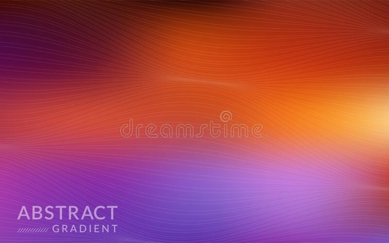 Modern abstract gradient with dynamic lines background. Design graphic element royalty free illustration