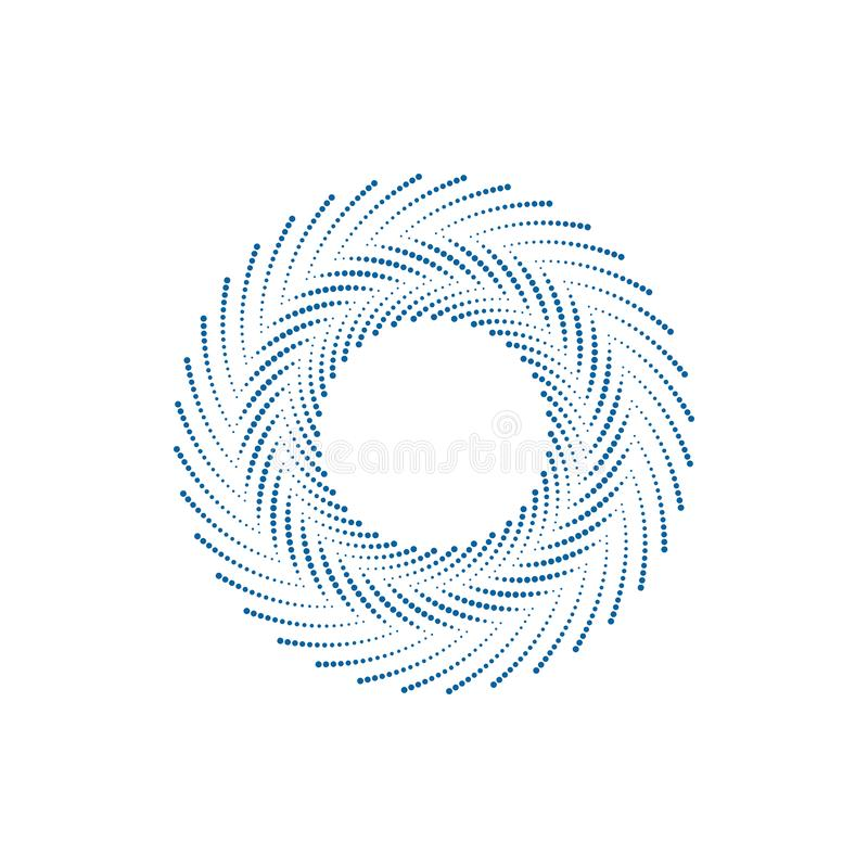 Modern Abstract Halftone Border Dots Flat Logo. For technology business health company with modern high end look royalty free illustration