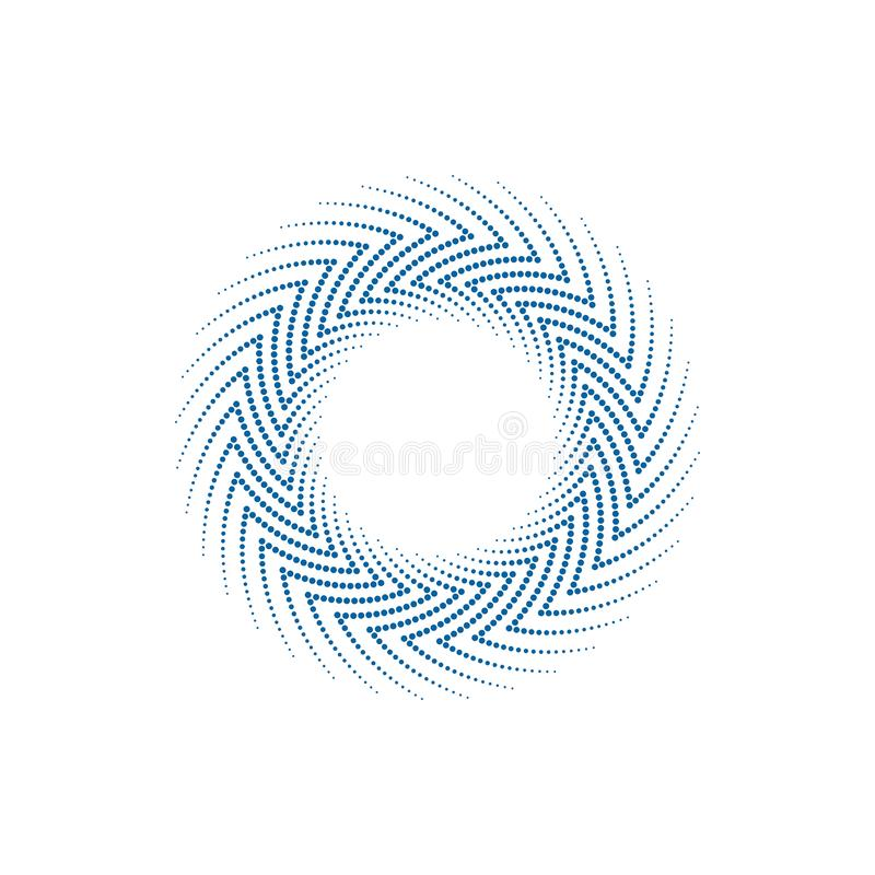 Modern Abstract Halftone Border Dots Flat Logo. For technology business health company with modern high end look stock illustration