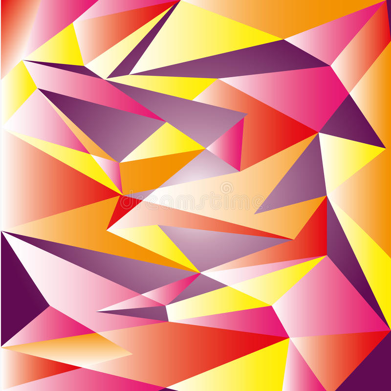 Modern Abstract Indented Saturated Design Background. Vector One stock illustration