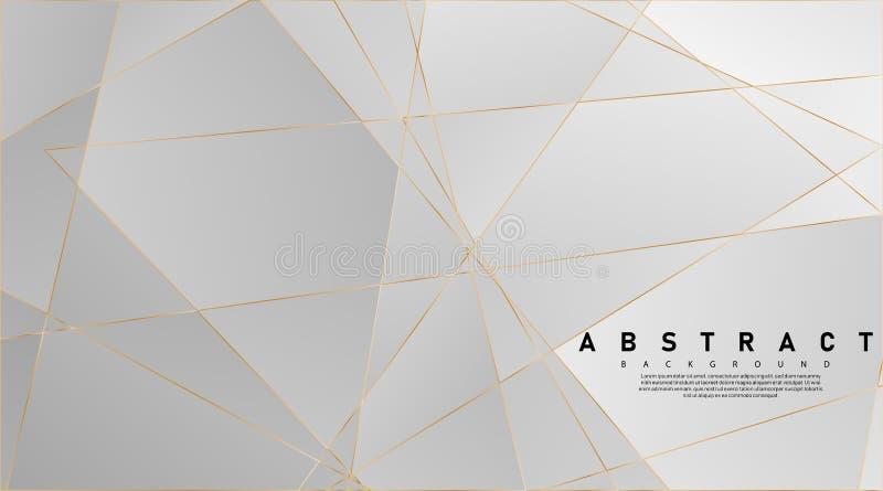Modern abstract light silver background vector. Elegant concept design with golden line.Vector Illustration For Wallpaper, Banner royalty free illustration