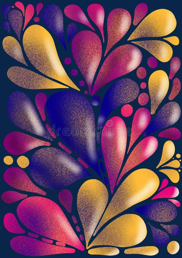 Modern abstract liquid drops purple pink yellow gradient, great design for any purposes. Modern creative style. Liquid background. Modern wallpaper. Abstract vector illustration