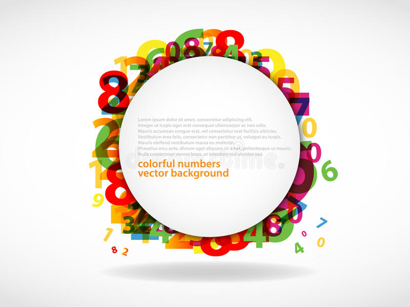 Modern Abstract numbers vector illustration