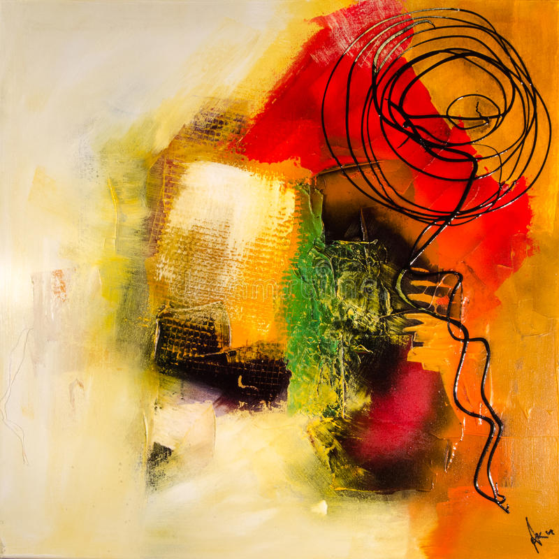Free Modern Abstract Painting Fine Art Artprint Royalty Free Stock Photo - 46316215
