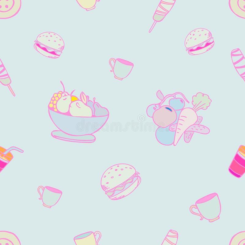 Food pattern design stock photos