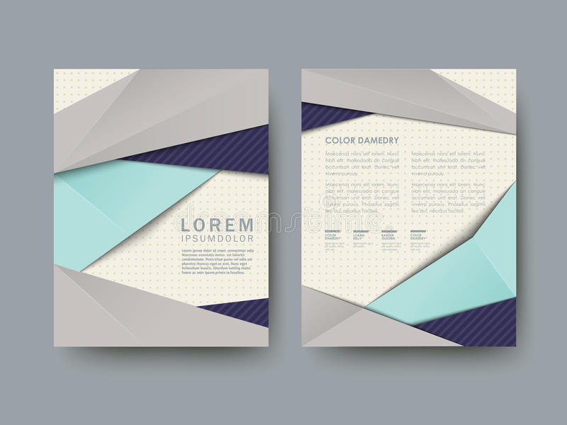Modern abstract poster template set royalty free illustration