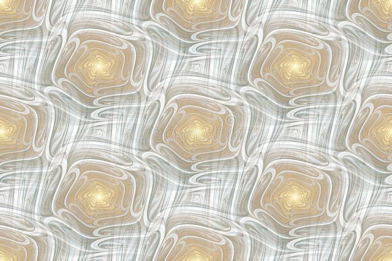 Modern abstract seamless pattern. Geometric background. Fractal, spiral, curl royalty free stock photography