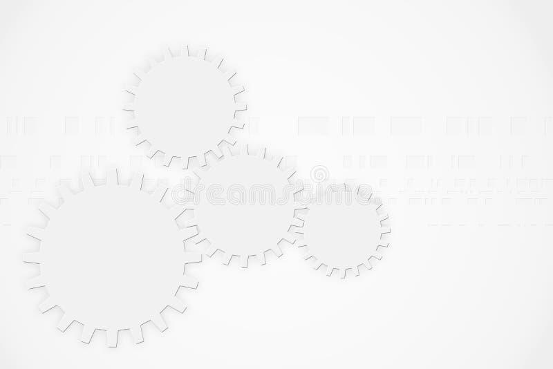 Modern abstract technology background gear wheel elements. Modern abstract technology background with gear wheel elements and copy space stock illustration
