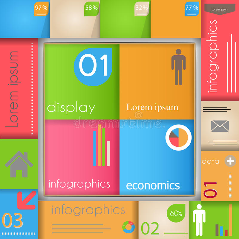 Download Modern  Abstract  Template  With Info Graphics Ele Stock Illustration - Image: 33328806