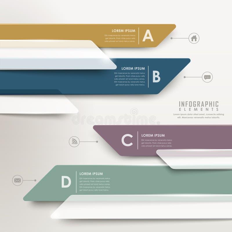 Modern abstract translucent arrow bar chart infographic. Elements stock illustration
