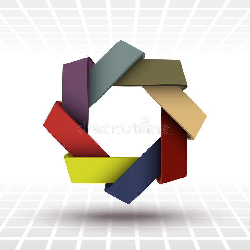 Modern abstract van het bedrijfs lintteken malplaatje voor presentatiesdelen stock illustratie