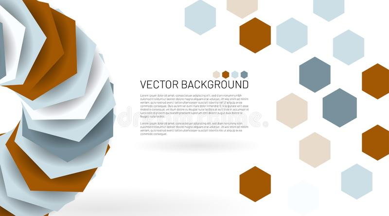 Modern abstract vector background. hexagon pattern that overlaps with the shadow. Vector illustrations for wallpapers, banners, vector illustration