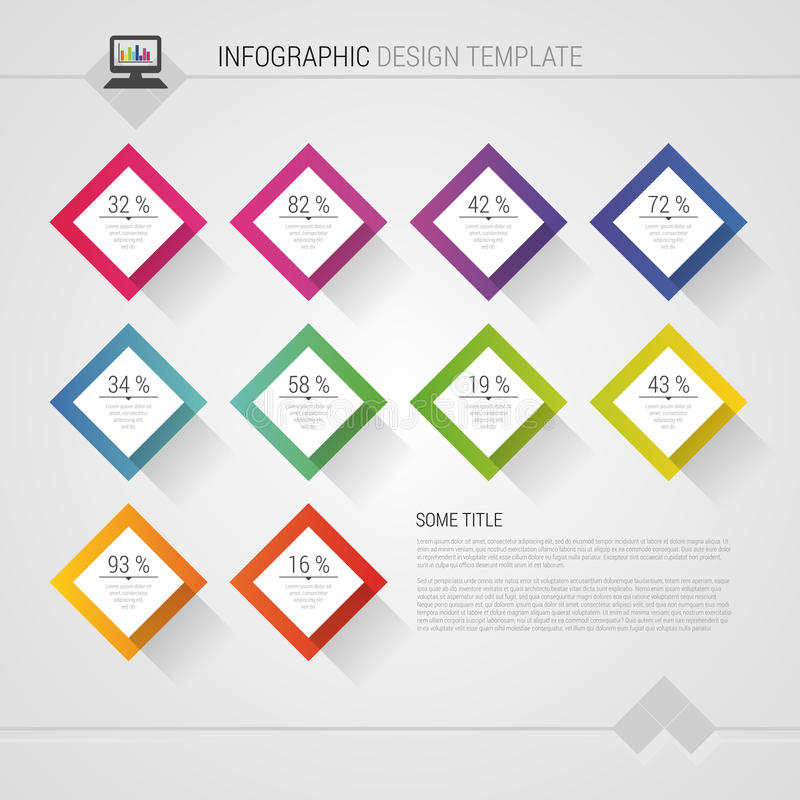 Modern abstract vector design infographic statistic. Vector template.  royalty free illustration