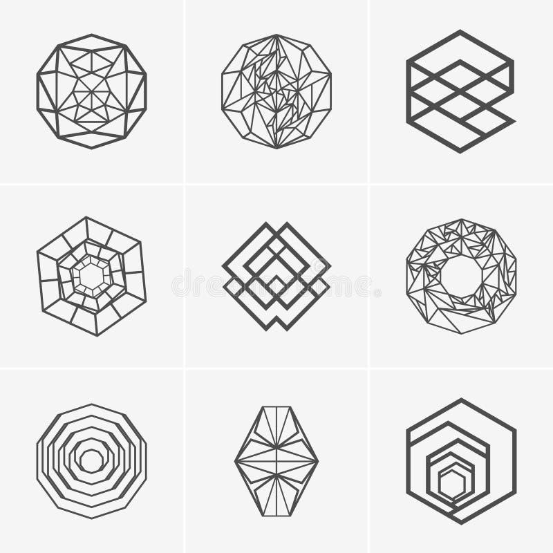 Modern abstract vectorembleem of elementenontwerp Beste voor identiteit en logotypes Eenvoudige vorm royalty-vrije illustratie