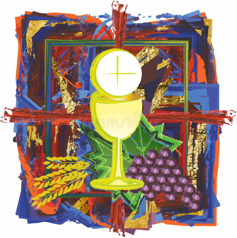 Free Modern Abstract Watercolor Tempera Eucharist Symbol Of Bread Stock Images - 62770404