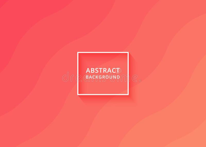 Abstract soft red wavy background modern fun minimalist background texture design. Illustration for web background template, social media post background vector illustration
